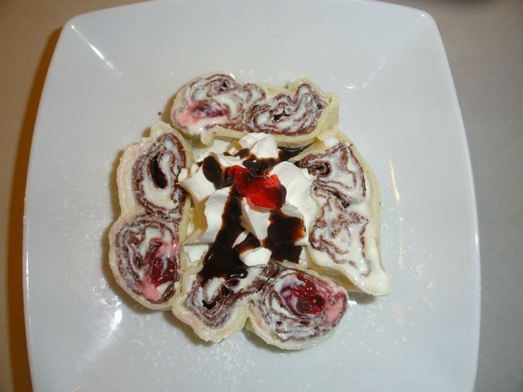 """Our own invention THE FLOWER CREPE"""" available at Savoury and Sweet Restaurant 3770 Bridgewater Street Niagara Falls"""