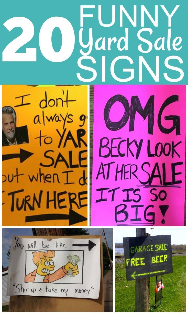 20 Awesome Garage Sale Signs Garage Sale Signs Yard Sale Signs