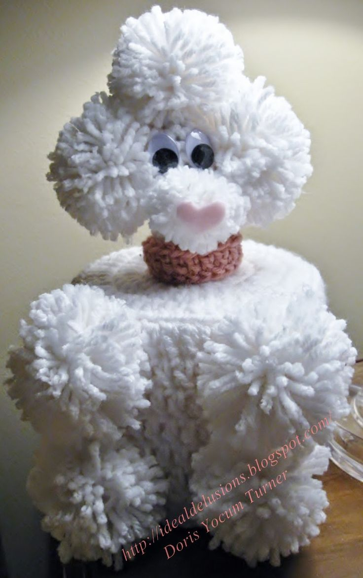Remember These Retro Poodle Tissue Topper Free Crochet