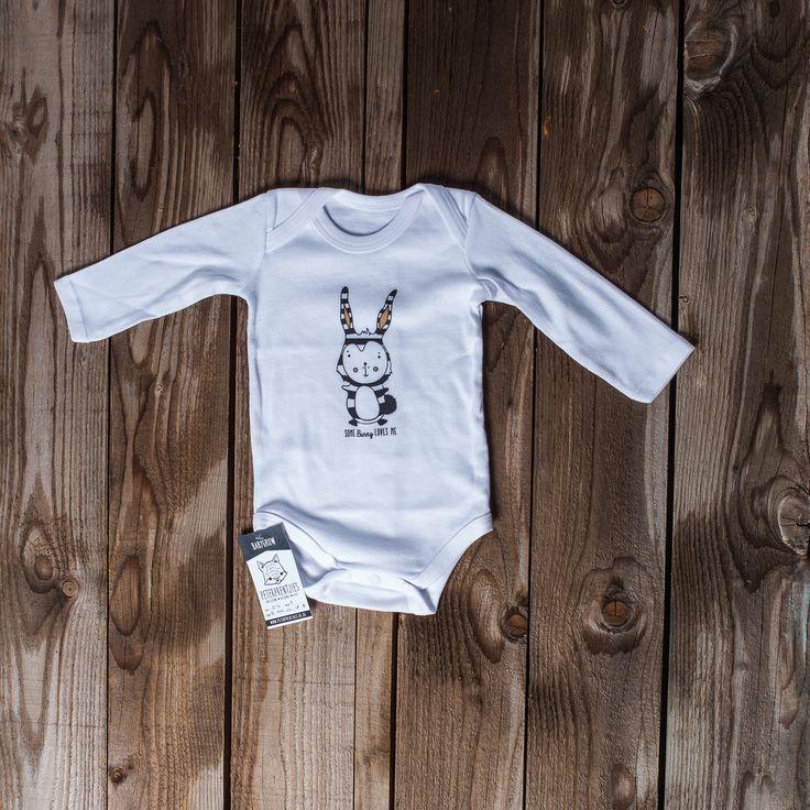 Long sleeve vest stripe bunny 18-24 months