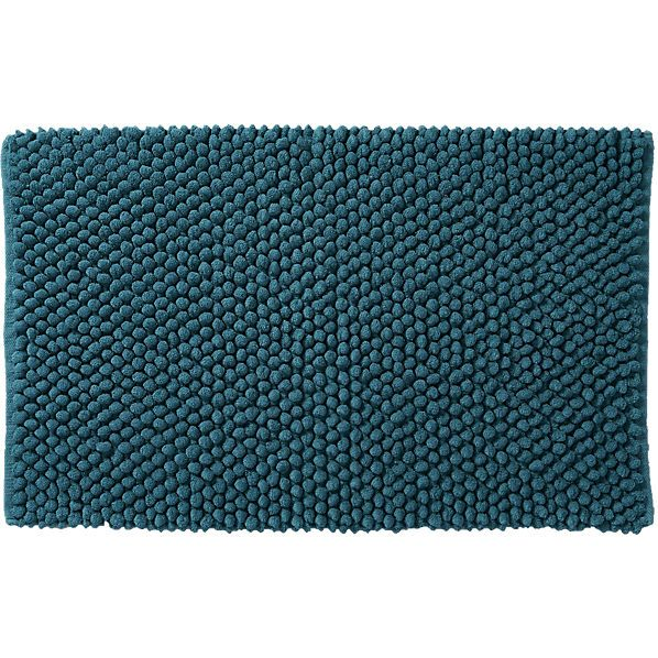 cirrus blue green bath mat