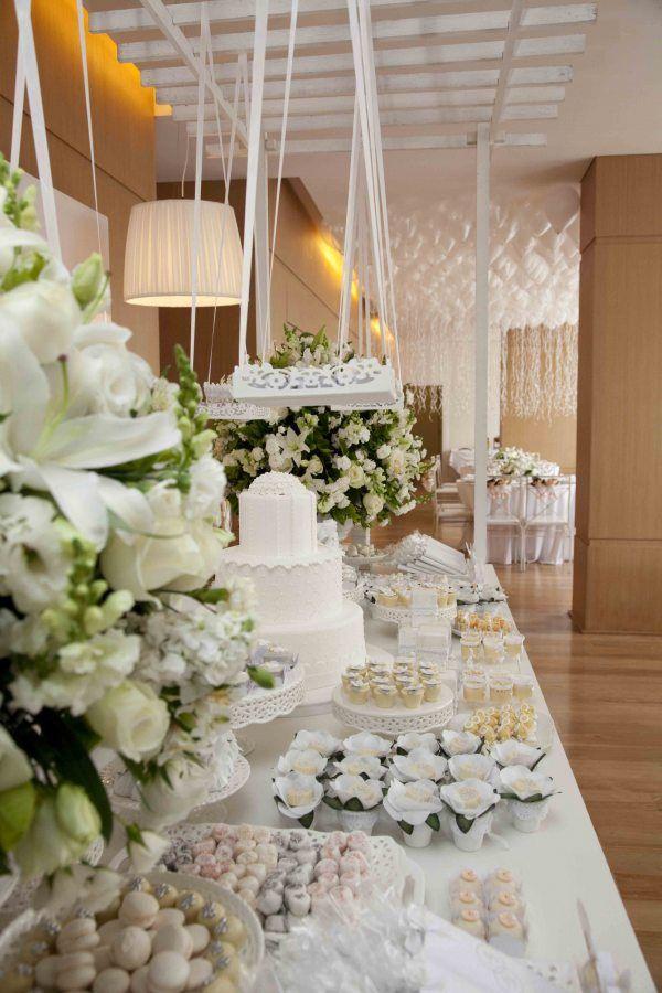 white dessert tablescape