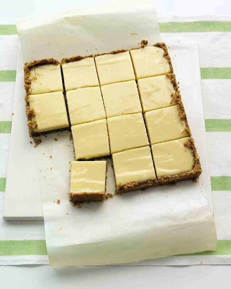 Lime Squares with Pistachio Graham-Cracker Crust.