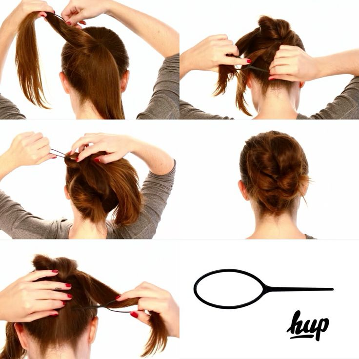Try The HUP ... simply swipe your Hair through the Tool and pin and pull to create a beautiful Hairstyle.