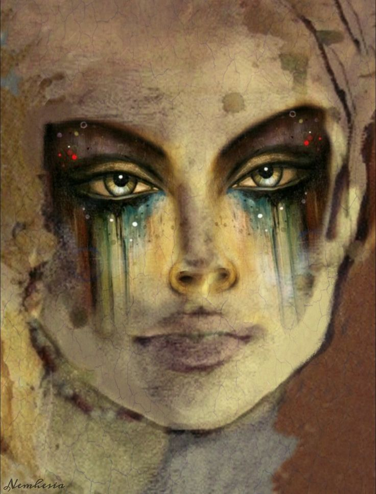 Digital art by ©Nemhesia. #art #woman #surrealism #conceptart #portrait #sexy #eyes #emotional #emotions #tears #sadness #loneliness #beautiful #painting #colorful #colorsplash
