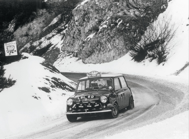 #177 - the Winner car of the 1967 Rally Monte Carlo driven by Rauno Aaltonen	and Henry Liddon.