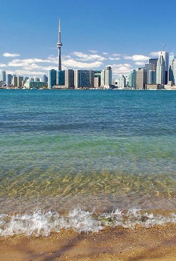 Toronto's skyline, in Ontario, Canada.