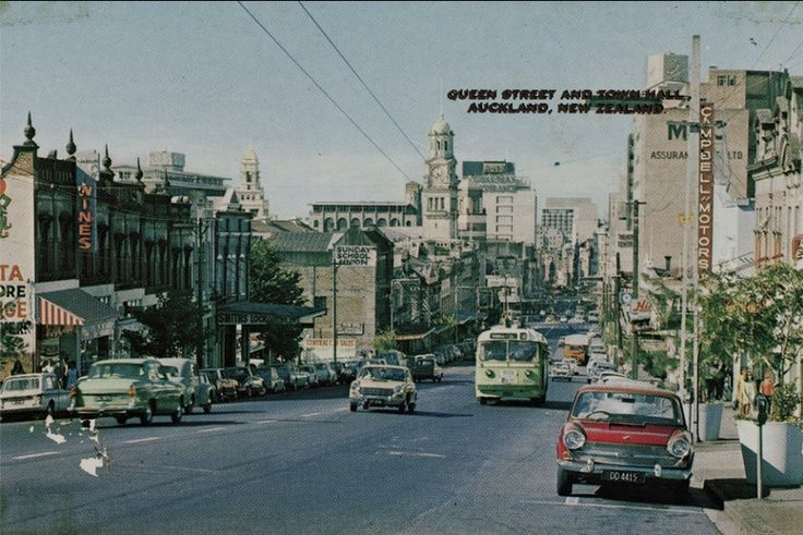 Queen Street and Town Hall, Auckland. 1960's