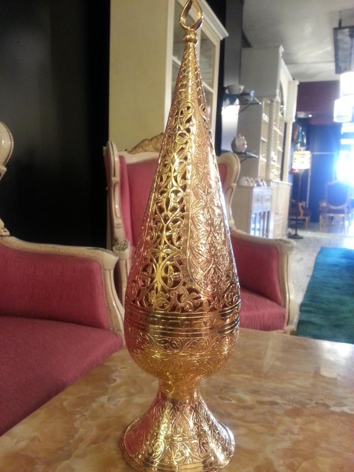 Osmanlı dönemi altın kaplama özel işlemeli BUHARDANLIK
