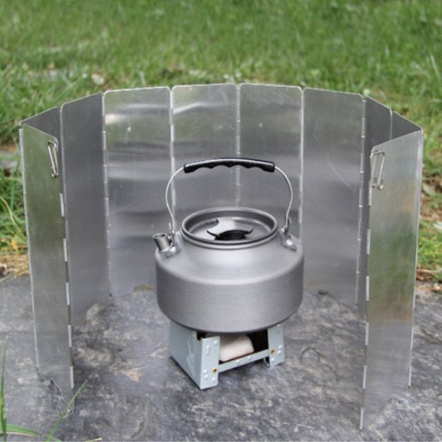 9 Plates Wind Deflectors Foldable Outdoor Camping Gas Stove Wind Shield`ScreenZY
