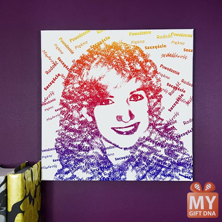 Canvas Style LETTERS - this is how you can change your photo! mygiftdna.pl #personalised #gift #unique #mygiftdna