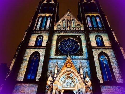 Light show festival in Prague