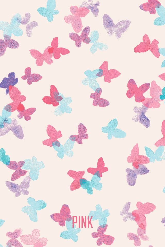 mixerlittlegirl  Butterfly Pink VS Wallpaper on We Heart It   iPhone  Wallpaper  victoria s secret. 15 must see Victoria Secret Wallpaper Pins   Vs pink wallpaper