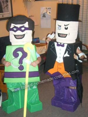 Coolest Lego Penguin and Lego Riddler Couple DIY Costumes ...