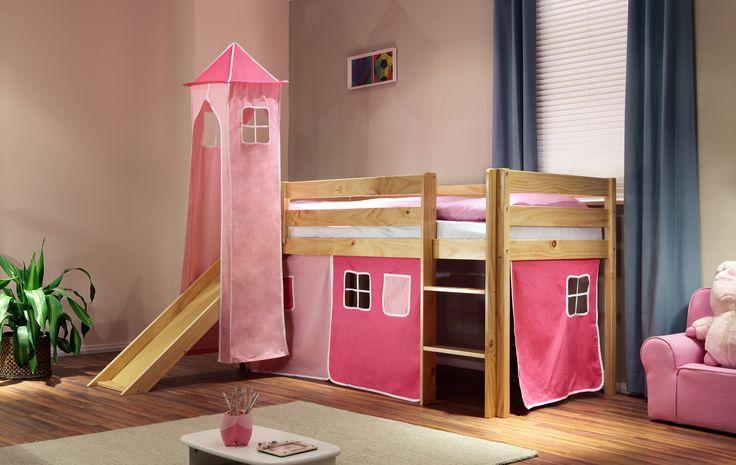 Kinderhochbett Pink