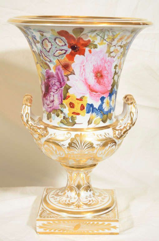 A Pair of Derby Urns Painted by Quaker Pegg image 6