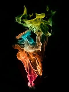 Colour Fire Wallpaper