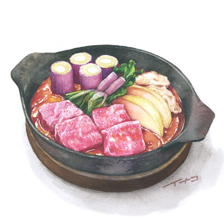 東京 丸ビル6Fにある山形料理の「DAEDOKO」様のメニューイラストをかかせていただきました。 さっそくランチにお邪魔してきましたら、山形の郷土料理の芋煮は里芋が柔らかく美味しかったです。 あとご飯