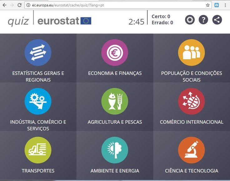 Novo Quiz Eurostat vem experimentá-lo!   Disponível em Português.