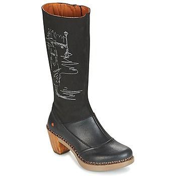 Schoenen Dames Hoge laarzen Art SOL Zwart
