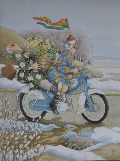 Motorcycle grannies Inge Look