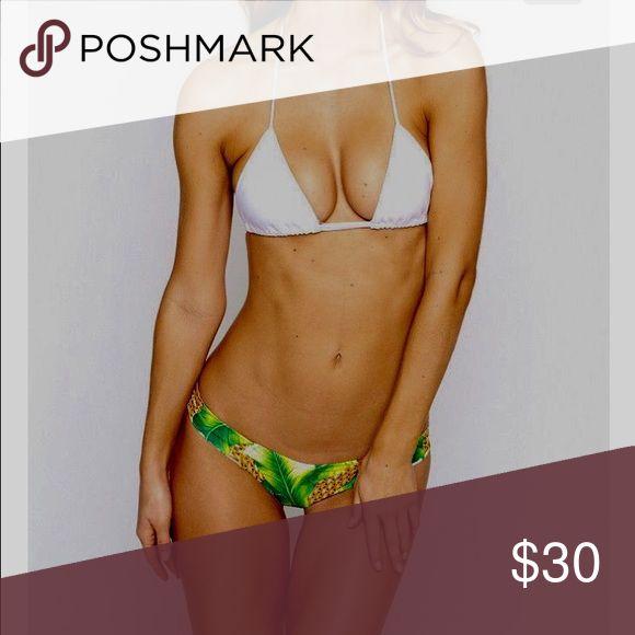 White triangle bikini top Plain white triangle bikini top. Missing tags Victoria's Secret Swim Bikinis