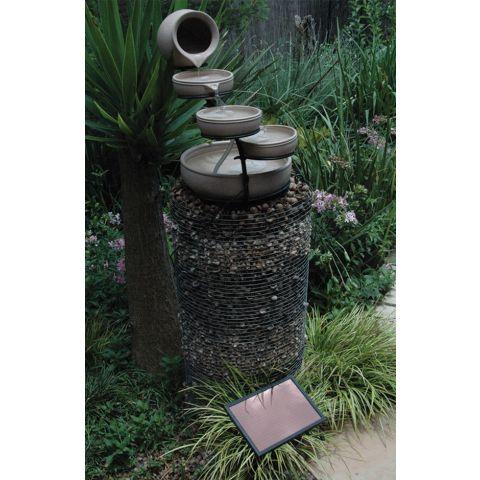 Garden Solar Water Feature LH1055 Pot In  Tiers