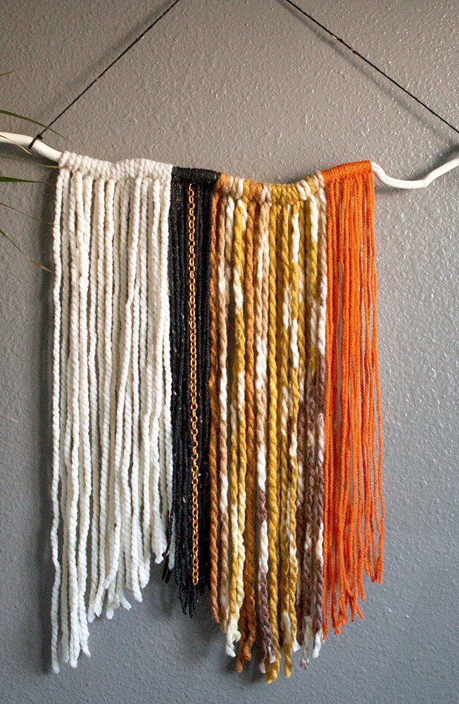Throwing a Halloween bash? Incorporate the elegant and easy to make macramé trend into your home décor by creating a beautiful wall hanging.