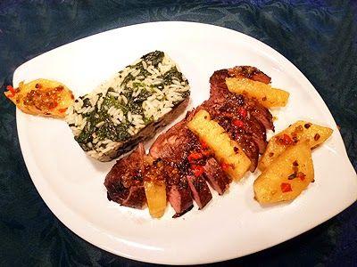Magret de canard à l'ananas et au gingembre. Un délice de Chantal. #cuisine #recette