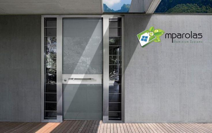 Security Door with Glass