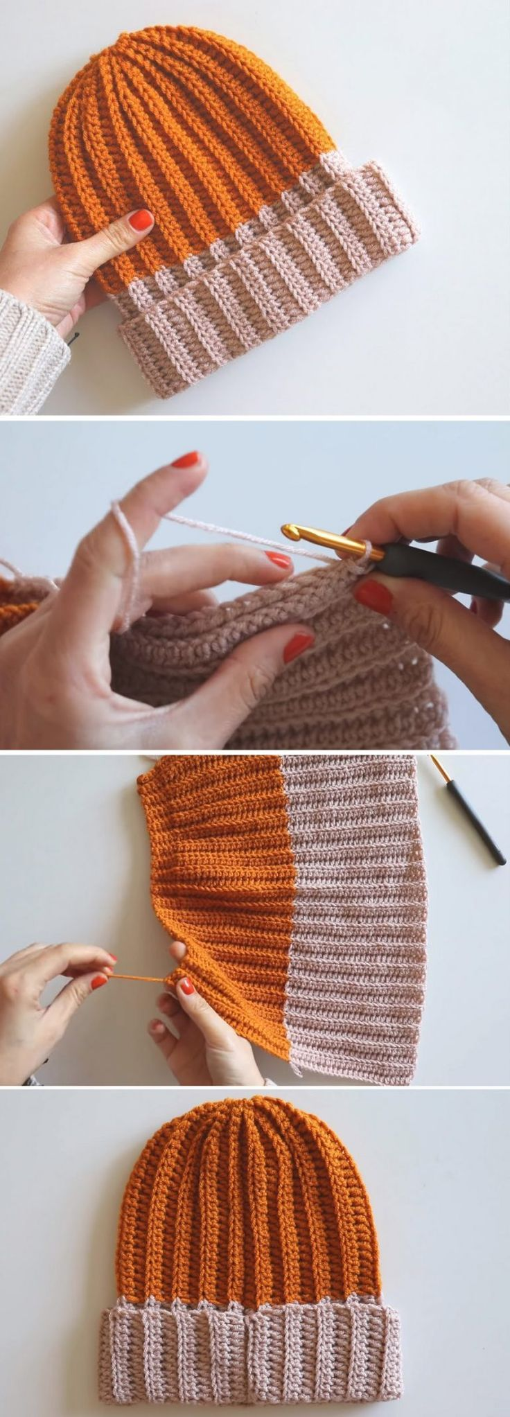 Easy Chunky Ribbed Hat Tutorial