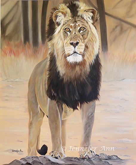 Jennefer Ann Gordon Grant - King of the Beasts- Oil - Painting entry - October 2016 | BoldBrush Painting Competition