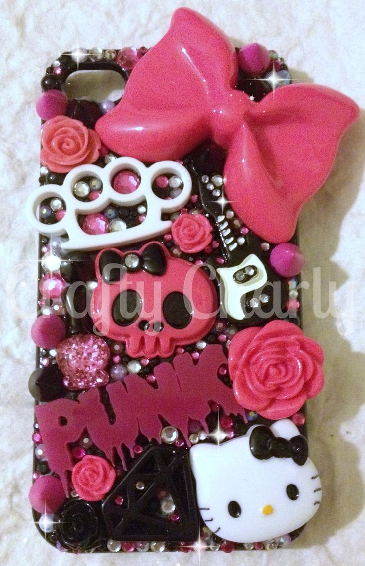 Another one of this years favourite makes I LOVE studs :) #craftycharly #decoden #punkphonecase #barnsley #madeinyorkshire