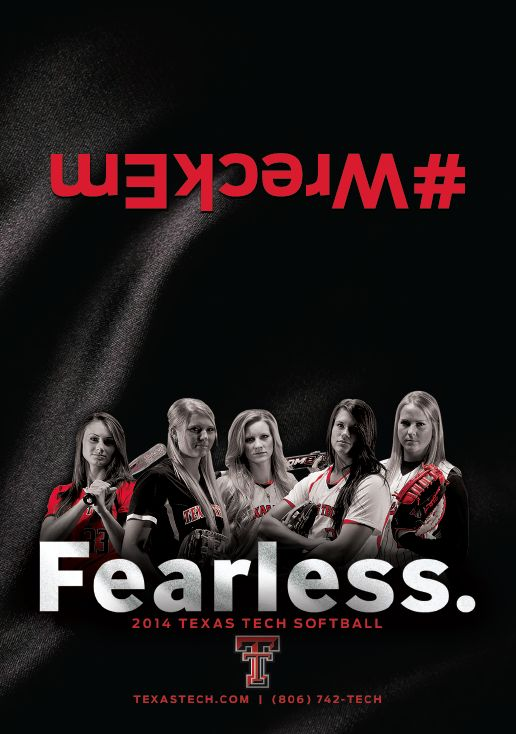 Texas Tech Softball Schedule Card (2014)