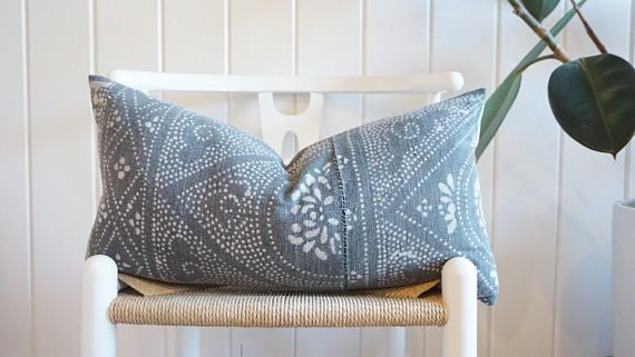 CHINESE BATIK Faded Grey PILLOW COVER VINTAGE Welcome to CLOTH & MAIN!  https://www.etsy.com/your/shops/CLOTHANDMAIN/tools/listings/view:table  Sophisticated Interiors Inspired by Travel... GLOBAL TEXTILES:  Thoughtfully and carefully handpicked, these global textiles are meant to be