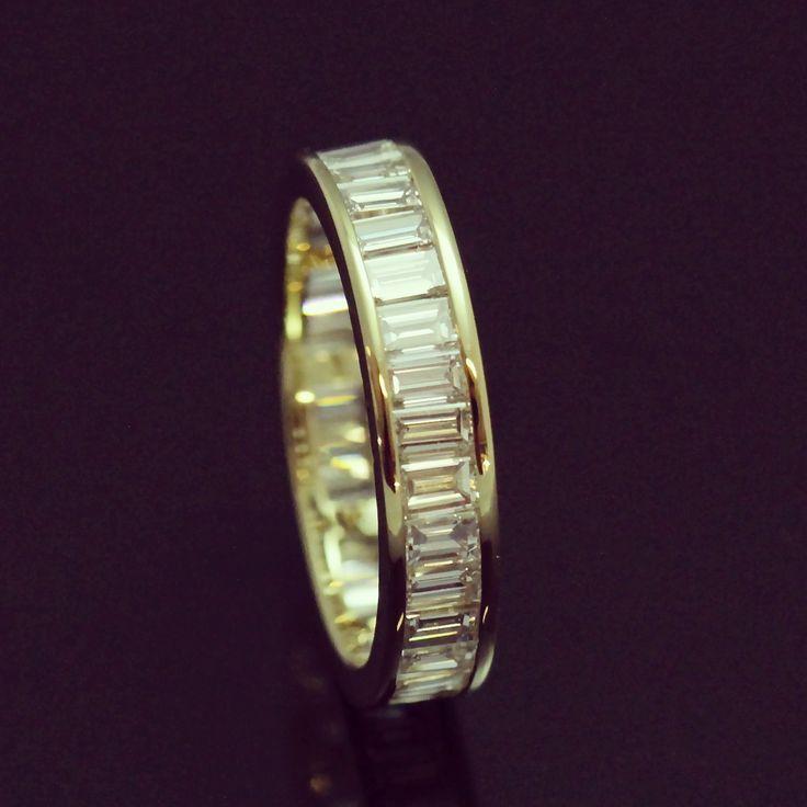 #eternityring #baguettes #baguettediamonds #diamonds #diamondeternityband #yellowgold #weddingband #wedding #ido #weddingring #ring #handmadejewellery #jewellery #jewelleryworkshop #blackroom #greenpoint #capetown #southafrica #jewellerycapetown