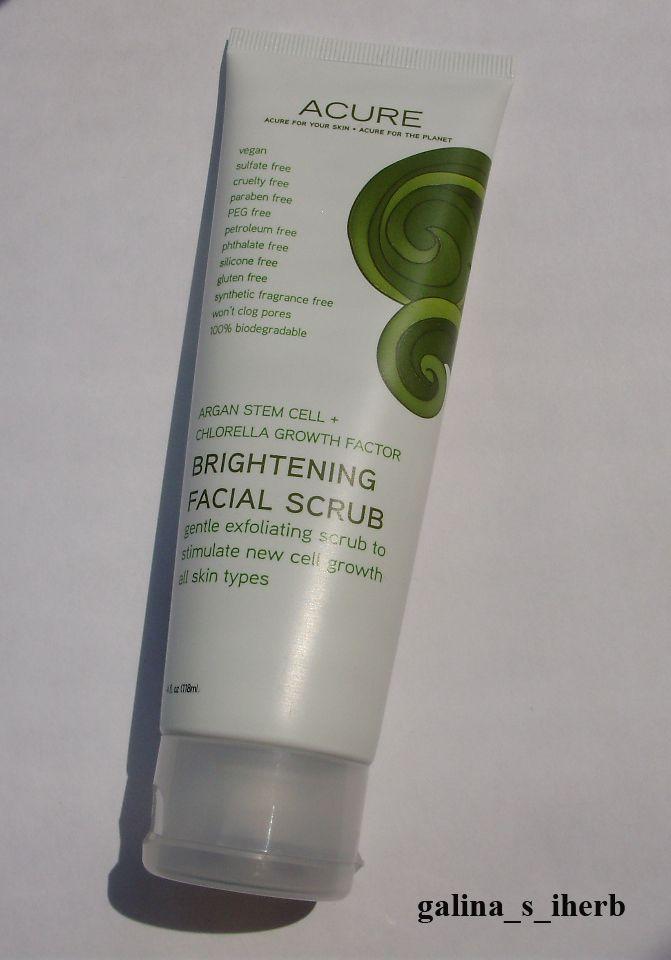 Acure Organics, Осветляющий скраб для лица.  http://galina-s-iherb.livejournal.com/30239.html http://ru.iherb.com/Acure-Organics-Brightening-Facial-Scrub-4-fl-oz-118-ml/36379?rcode=KBJ369
