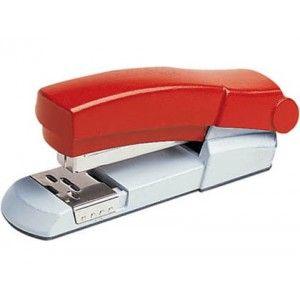 Grapadora de sobremesa para la oficina Skrebba Skre-Norm 140 en color rojo, totalmente metálica de muy alta calidad y resistente, con capacidad de grapado de hasta 40 hojas