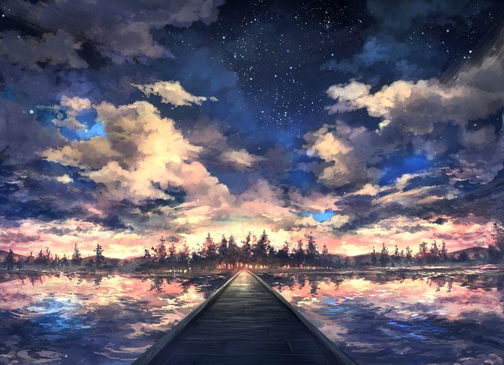 「湖」/「ぴっぴ@コミティアD30a」のイラスト [pixiv]