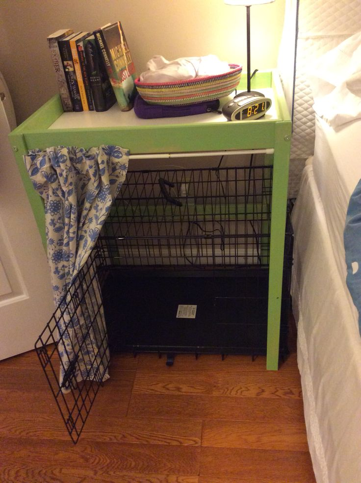 Ikea Changing Table Hack Bedside Table With Dog Crate