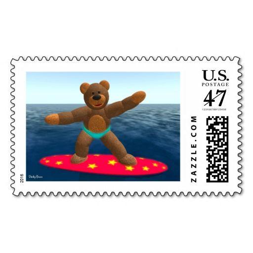 Dinky Bear on Surfboard