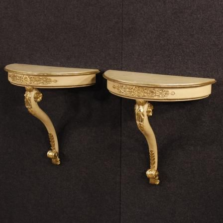 1100€ Pair of French lacquered and golden console tables. Visit our website www.parino.it #antiques #antiquariato #furniture #lacquer #antiquities #antiquario #console #table #tavolo #decorative #lacquer #lacquered #interiordesign #homedecoration #antiqueshop #antiquestore #gold #golden #gilt #gilding