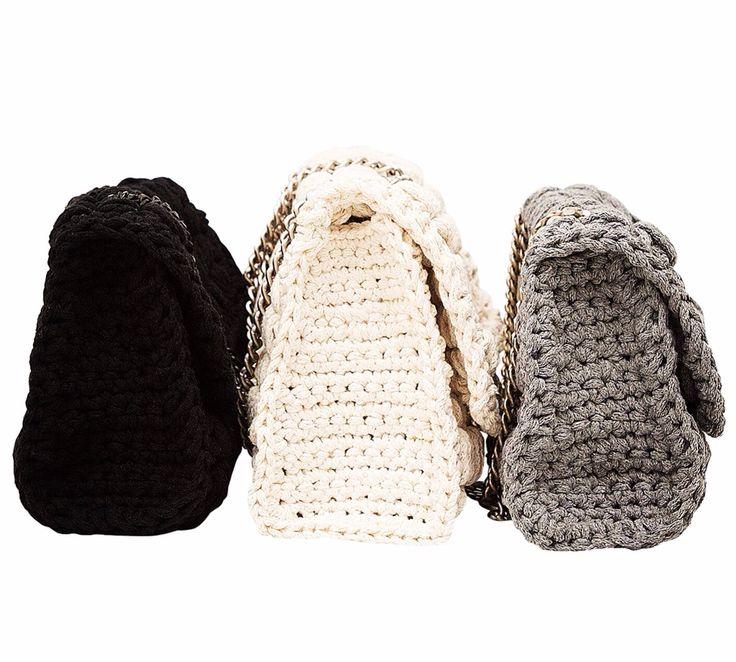 Crochet cotton bags