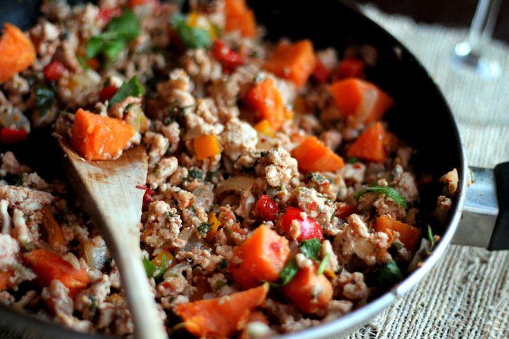 Sweet Potato & Chicken Mexican Stir-Fry