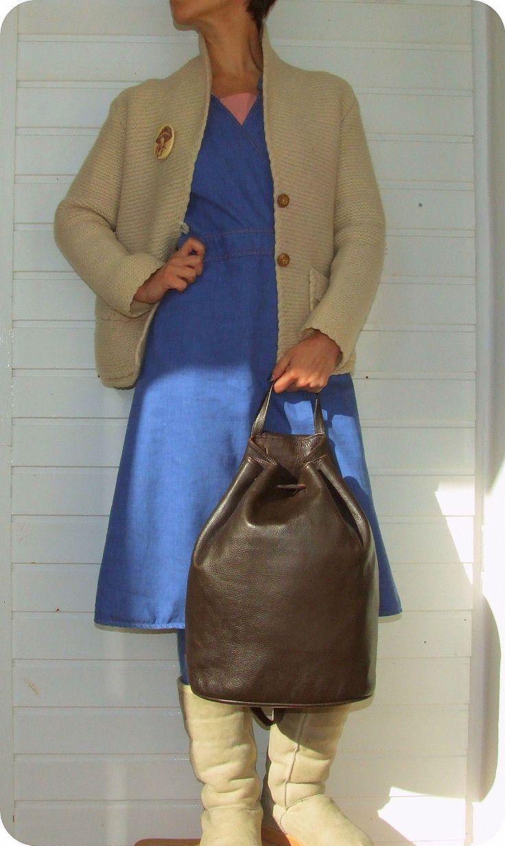 Leder YURI Rucksack Leather Bag Schultertasche Hand- Tasche Beutel Backpack Boho in Kleidung & Accessoires, Damentaschen | eBay!