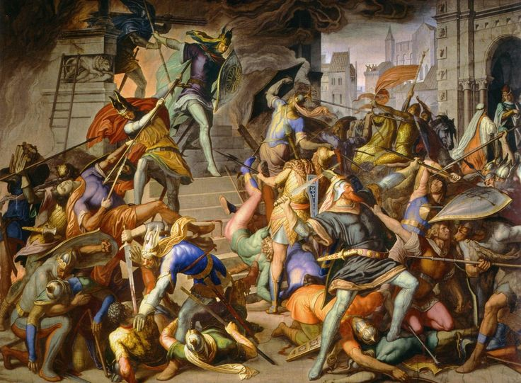 The Athenaeum - King Etzel kills the Burgundians (Julius Schnorr von Carolsfeld - )