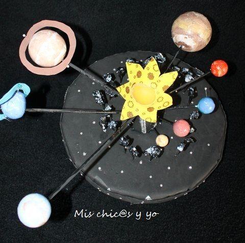Maqueta para trabajar el sistema solar en primaria. Maqueta colegio.