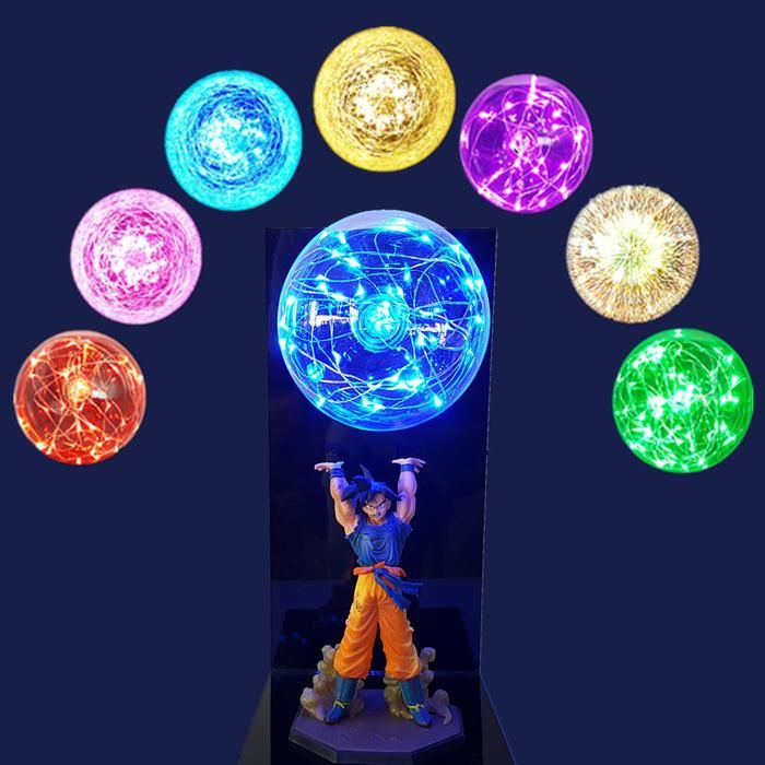 Dbz Son Goku Genki Dama Spirit Bomb Flash Ball Diy 3d Led Light Lamp Dragon Ball 3d Led Light Dragon Ball Z