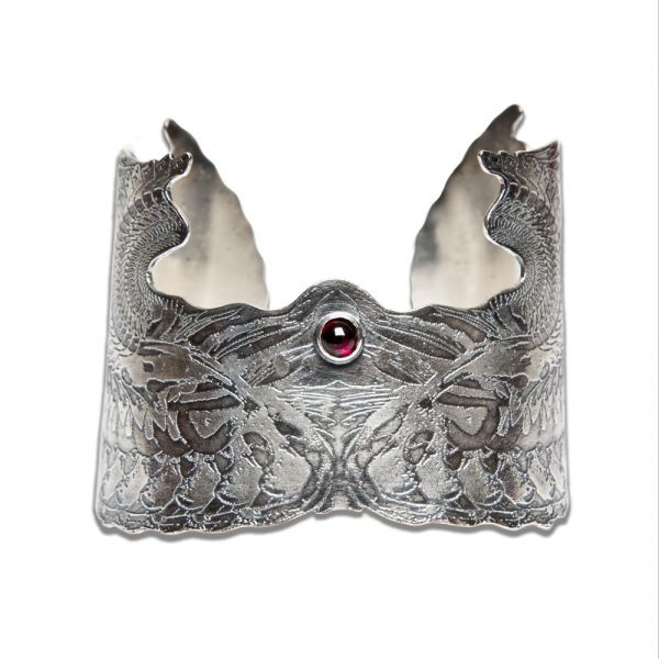 Silver Angel Wings Continuation Cuff