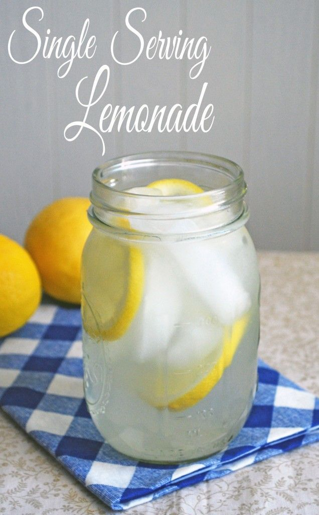 Single Serving Lemonade - I need to make this tonight! Recipe from www.theliveinkitchen.com